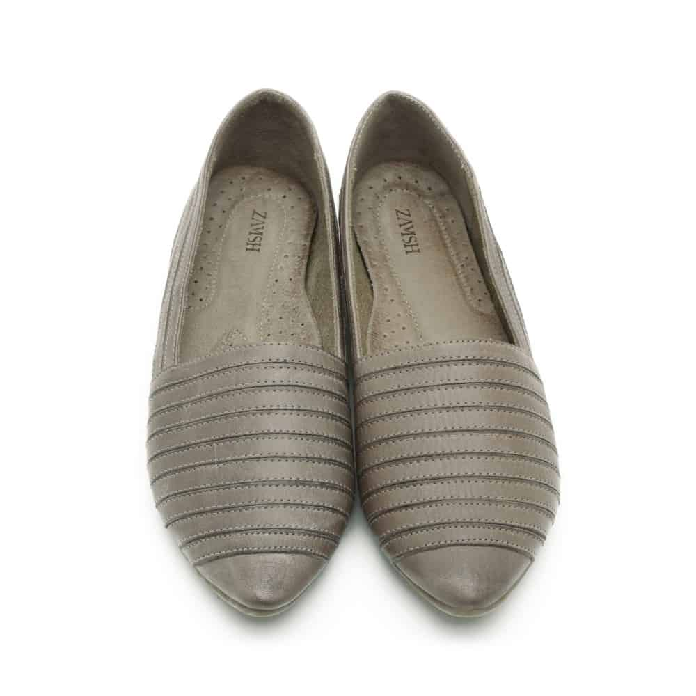 נעלי בלרינה שטוחות מעור – דגם פלג
