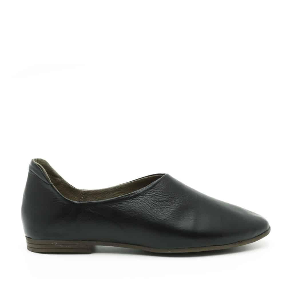 נעל בלרינה שטוחה ושחורה - דגם יהל 3363