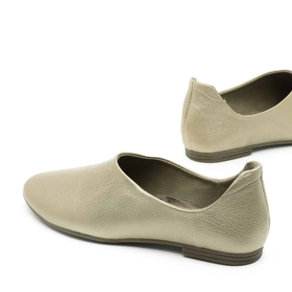 נעלי בלרינה זהובות ושטוחות - דגם יהל 3363