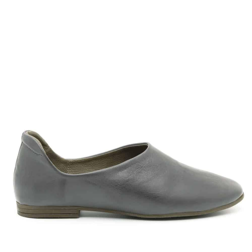 נעלי בלרינה אפורות שטוחות מדגם יהל 3363