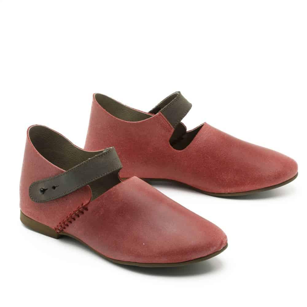 נעל שטוחה מעור – דגם צוק
