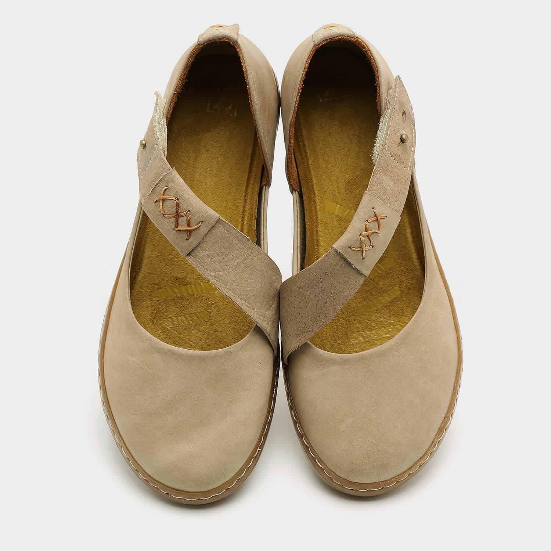 נעליים שטוחות עם רצועת אלכסון – דגם דבש