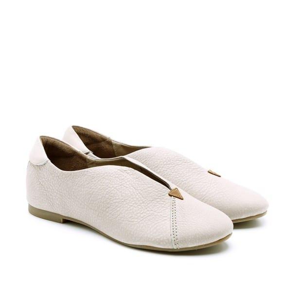נעלי סירה שטוחות מעור איטלקי – דגם ניר