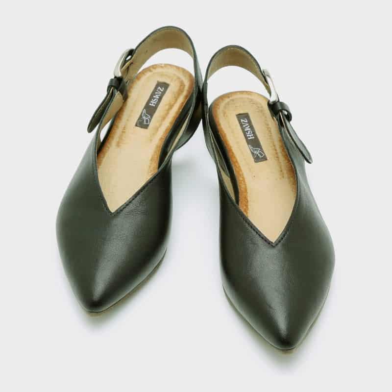 נעלי בלרינה שחורות לנשים - דגם טלי 8896