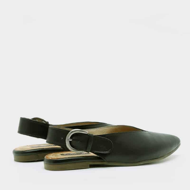 נעל בלרינה שחורה עם שפיץ - דגם טלי 8896