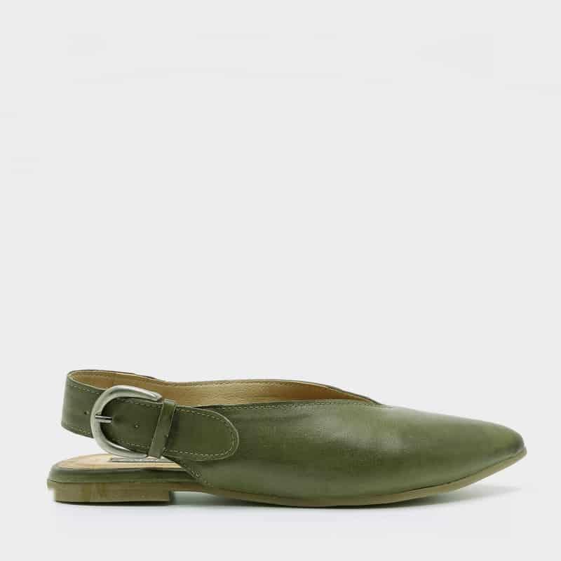 נעלי בלרינה לנשים בצבע זית - דגם טלי 8896