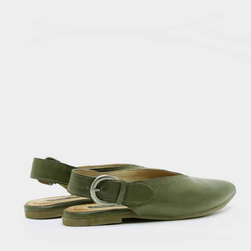 נעלי בלרינה עם שפיץ בצבע זית - דגם טלי 8896