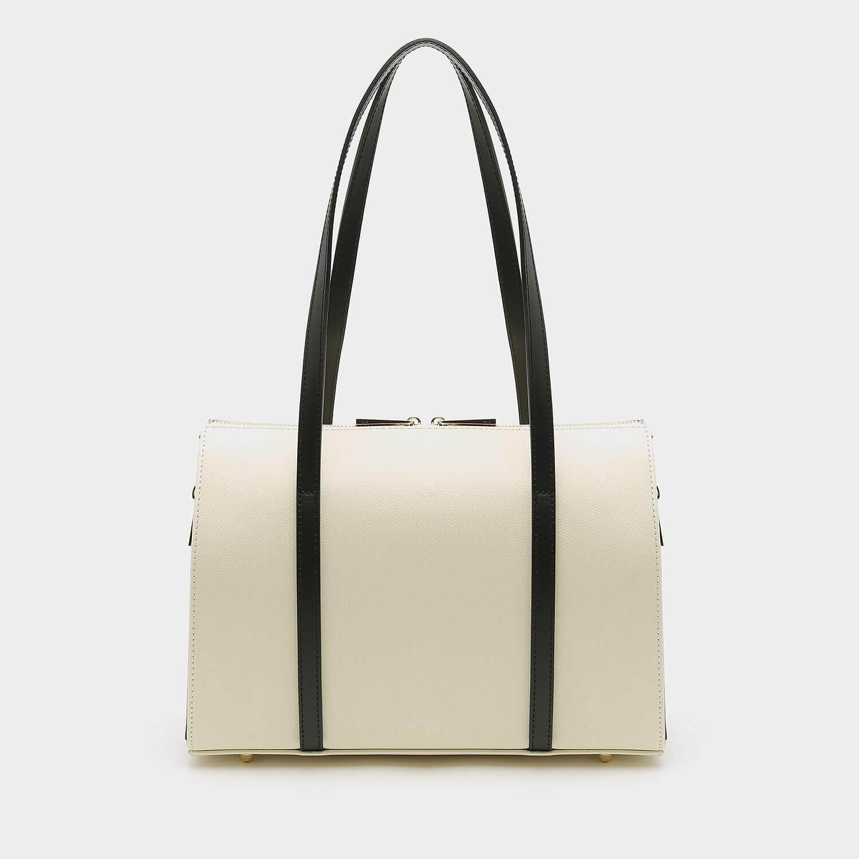 תיק צד מלבני בצבע בז' מעור לנשים מדגם אריאל 3000