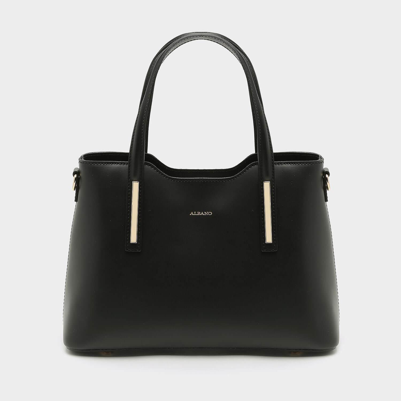 תיק צד מרובע וקלאסי לנשים בצבע שחור - דגם רוי 013