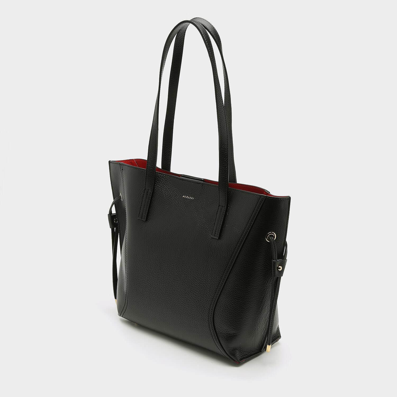 תיק צד גדול שחור וקלאסי לנשים מדגם אורן 2044