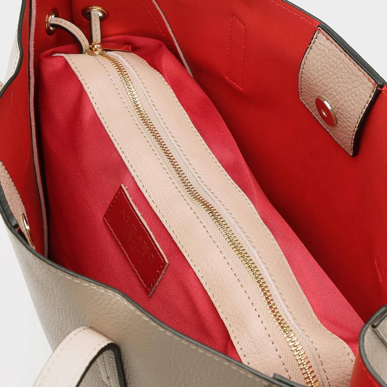 תיק צד ורוד גדול וקלאסי לנשים - דגם אורן 2044 - מבט פנים