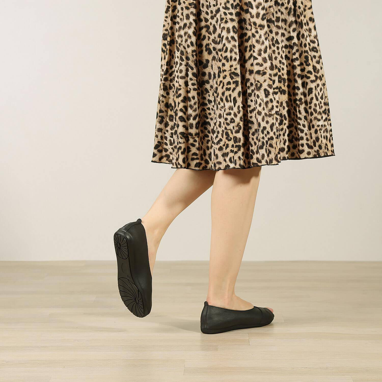 נעלי בלרינה מעור זמש משומן – דגם ציפי
