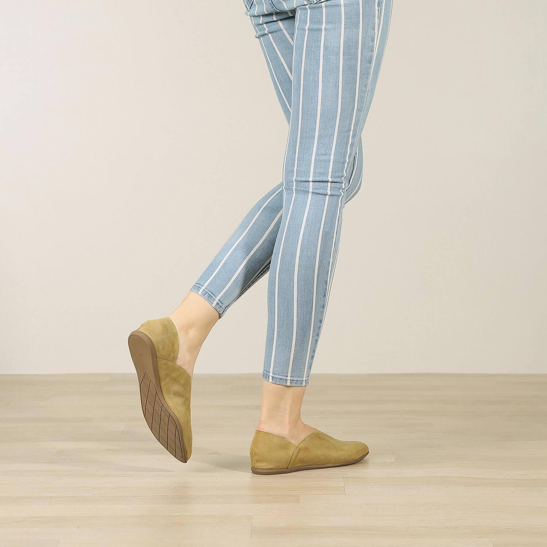 תמונת אווירה של נעל בלרינה לנשים בצבע זית 2 - דגם אווה 5903