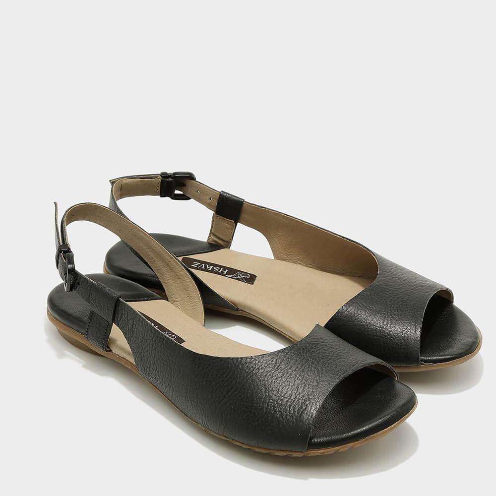 נעלי סירה פתוחות לנשים בצבע שחור - דגם היילי 3920