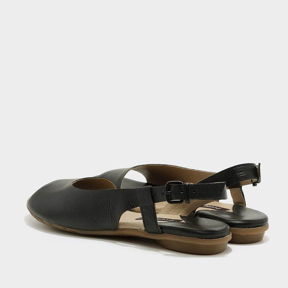 נעלי סירה פתוחות בשחור - דגם היילי 3920