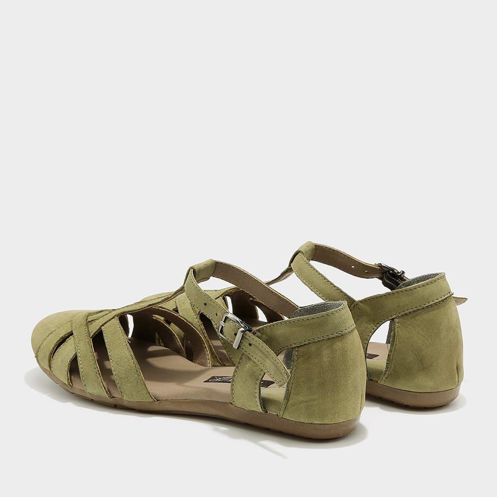 נעלי סירה פתוחות ירוקות - דגם מלי 8128