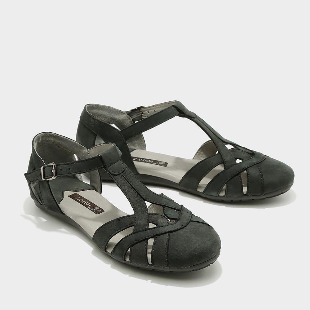 נעלי סירה פתוחות שחורות - דגם מלי 8128