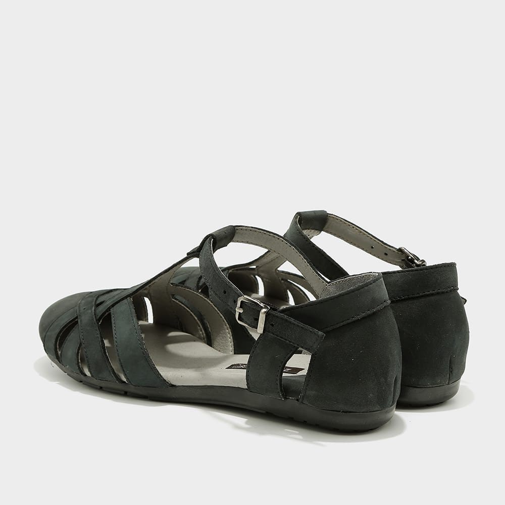 נעלי סירה פתוחות בצבע שחור - דגם מלי 8128