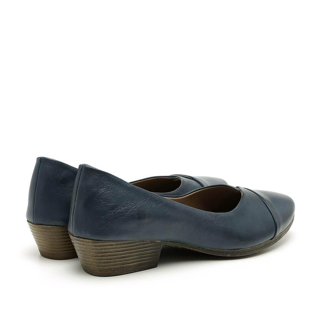 נעלי סירה כחולות עם עקב מדגם יערה 84418