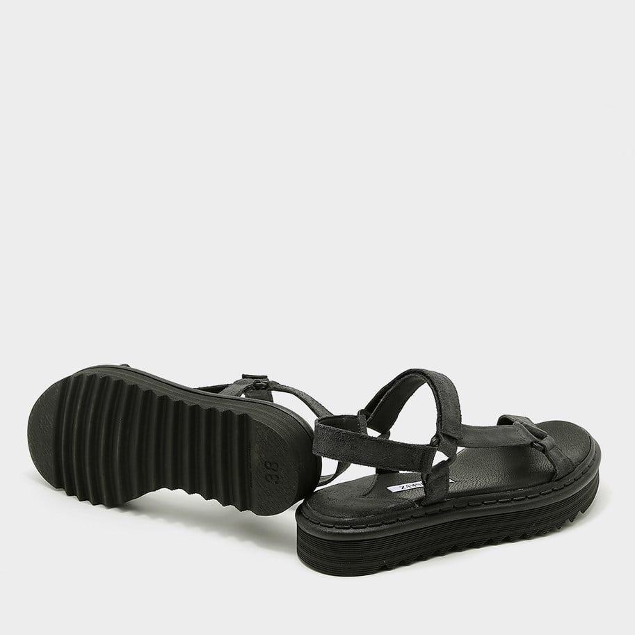 סנדלי נוחות שחורים לנשים - דגם דפנה 5600
