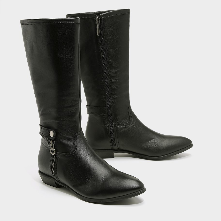 מגפיים שחוריח קלאסיים מעור - דגם דניאלה 5300