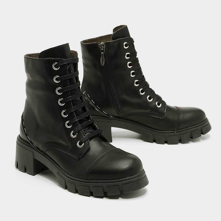מגפונים טבעוניות בצבע שחור עם שרוך - דגם בל 995851