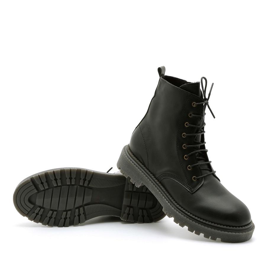 מגפון טבעוני שחור לנשים - דגם הדס 995701