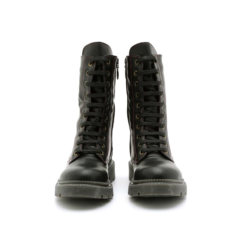 מגפון טבעוני לנשים בצבע שחור לנשים - דגם ליה 995702