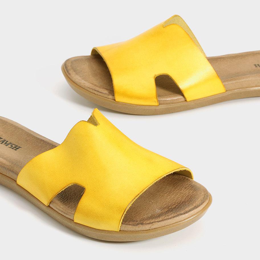 כפכף צהוב שטוח - דגם דיאנה