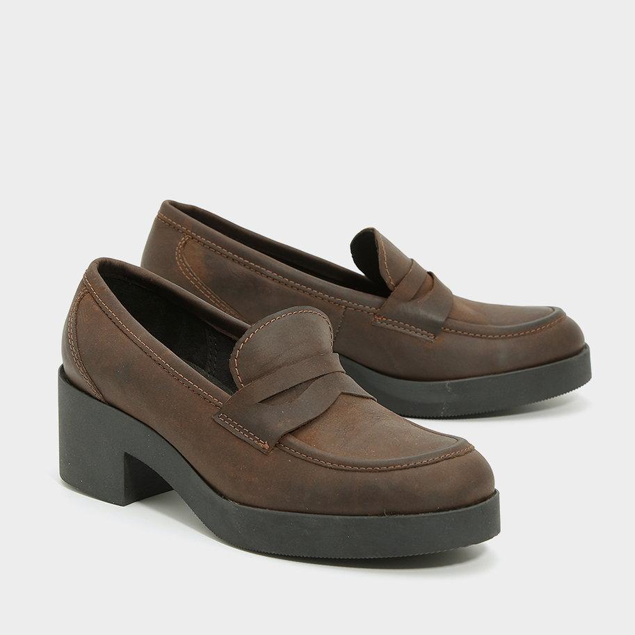 נעלי קולג' מוקסין מעור – דגם אלינור